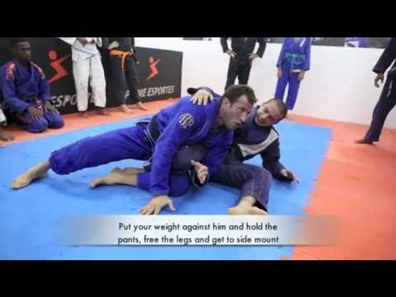 Brazilian Jiu-Jitsu lesson: Eduardo Telles teaches a sweep from turtle guard