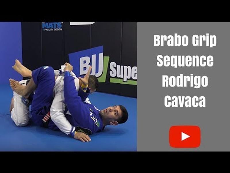 BJJ: Rodrigo Cavaca shows grips variations for finishing via brabo choke
