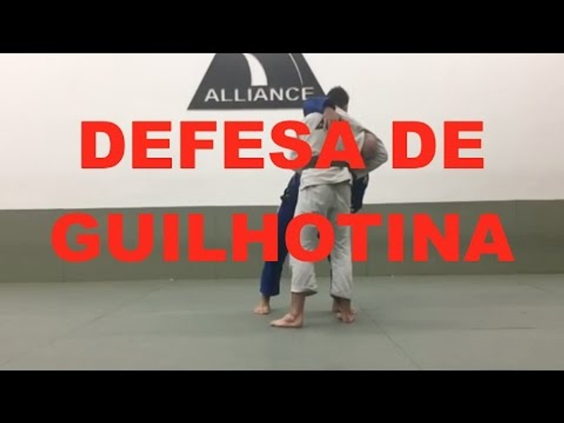 BJJ lesson: Fabio Gurgel teaches a defense against the standup guillotine