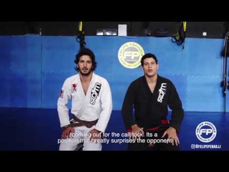 "BJJ: Felipe ""Preguiça"" Pena teaches a calf lock from the inverted de la Riva"