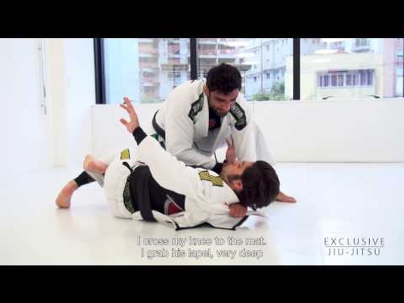 BJJ: Leandro Lo teaches a choke from half-guard using the lapel