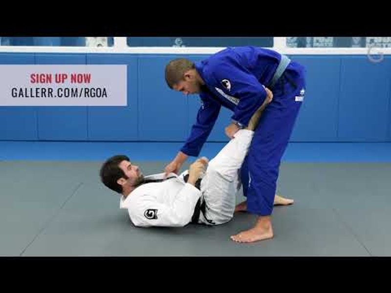 Controlling an opponent from the open guard