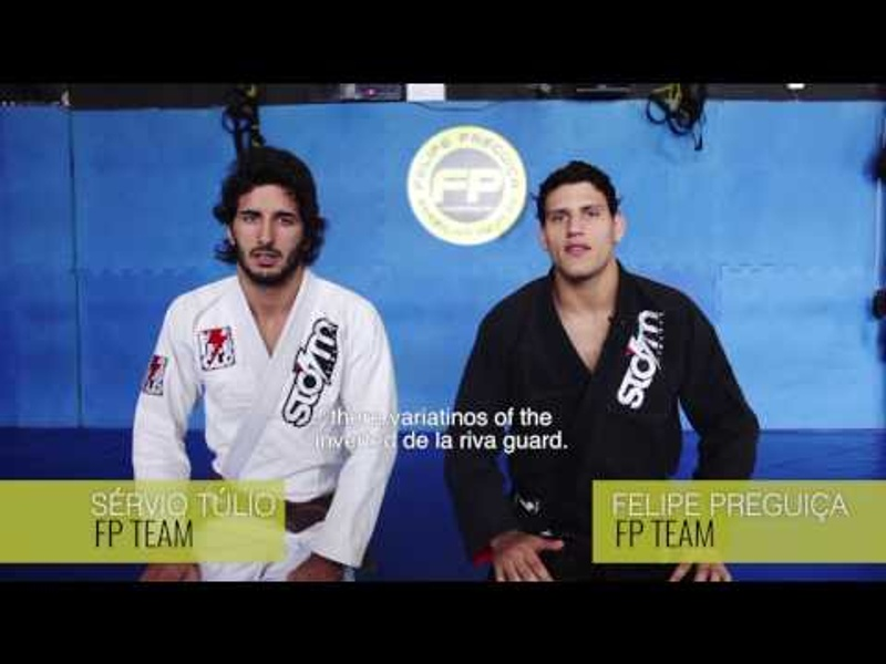 BJJ: Learn how to take the back from the inverted de la Riva, with Felipe Preguiça