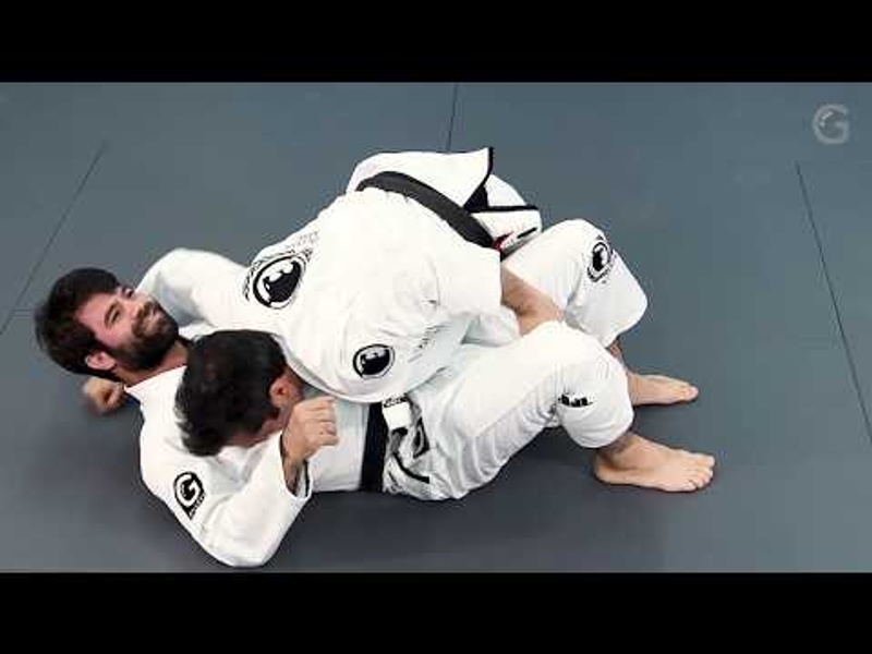 Wrap your opponent's leg and sweep from half-guard