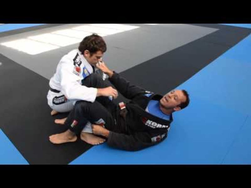 Black-belt shows how to fearlessly open guard and sweep in BJJ