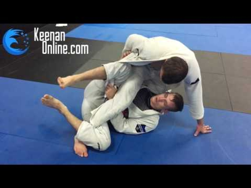 Keenan Cornelius shows how to use the worm guard from the deep half-guard to take the back