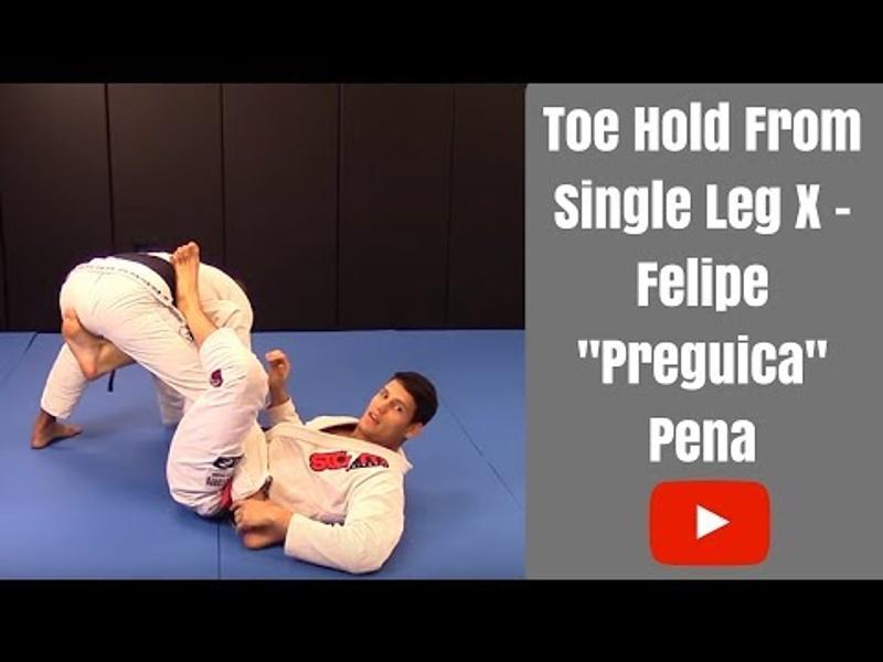 BJJ lesson: Felipe Preguiça teaches a toe hold starting from X-guard