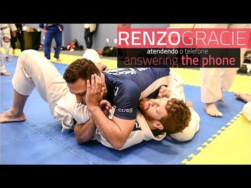 "BJJ: Renzo Gracie teaches how to ""answer the phone"""