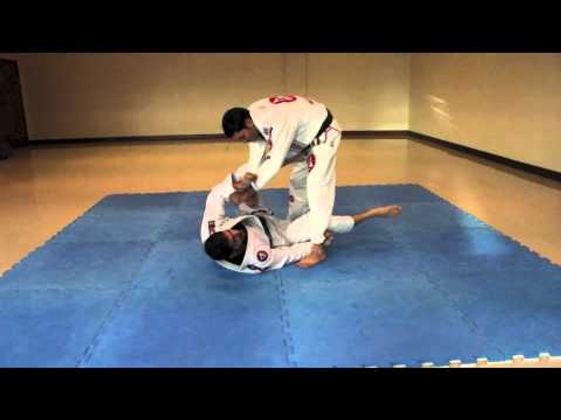 Calf Slicer from open guard when opponent is standup