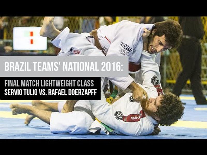 Brazil Teams' National 2016: Final match Brown/Black belt lightweight class