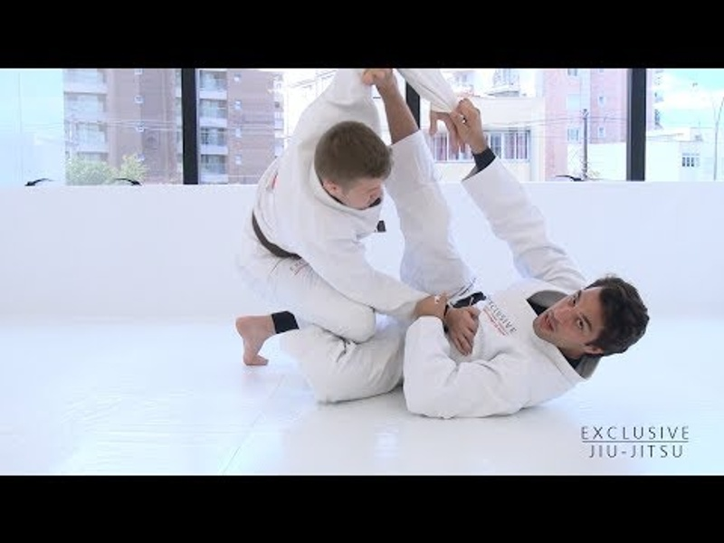Learn 2 sweeps starting from the de la Riva hook, with Gregor Gracie