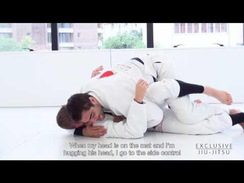 Luiz Panza shows 2 ways to pass a flexible guard in BJJ