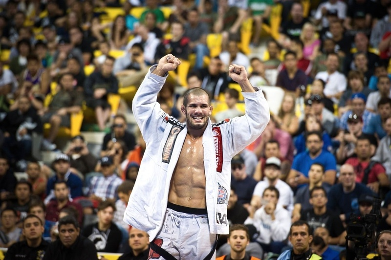 Rodolfo Vieira celebrates at BJJ Worlds