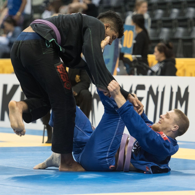 BJJ Worlds 2016: Victor Hugo Costa wins purple belt absolute final over Fabio Agnes
