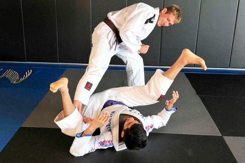 Keenan Cornelius teaches a passing guard