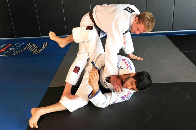 Keenan Cornelius teaches a passing guard