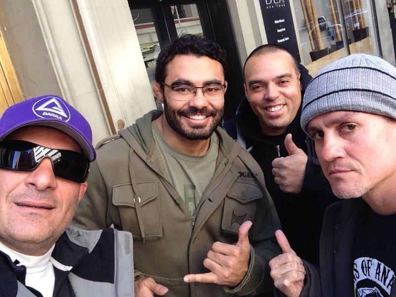With Rayron Gracie, Rafael Sapo, Draculino and R Gracie
