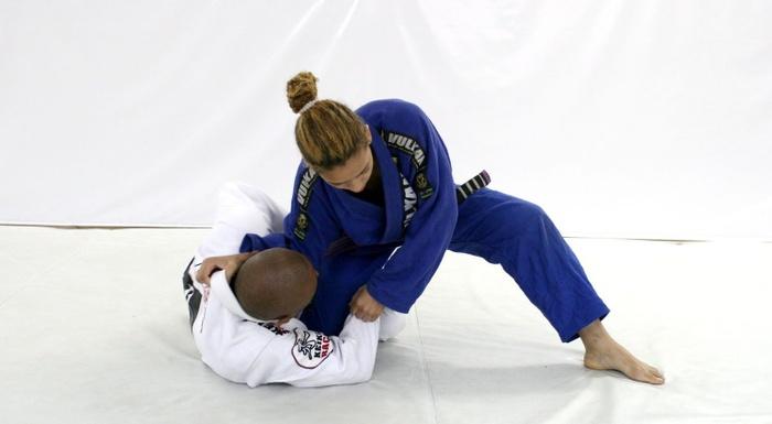 Brazilian Jiu-Jitsu lesson:  Serginho Moraes teaches a leg lock from deep half-guard