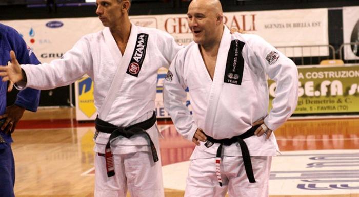 Um dia com Carlson Gracie Junior e Ricardo De La Riva na Itália