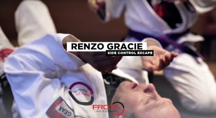 Renzo Gracie teaches a trick to help you escape side control in BJJ