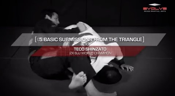 BJJ: Learn 5 submissions starting from the triangle