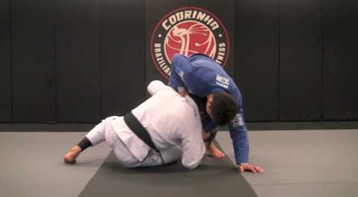 A drill to sharpen your lapel guard sweep in BJJ, with Charles Cobrinha