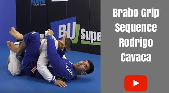 BJJ: Rodrigo Cavaca shows grips variations for finishing via brabo choke