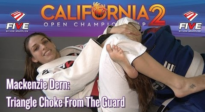Mackenzie Dern shows two scenarios for you to mount or finish on the triangle from the spider guard