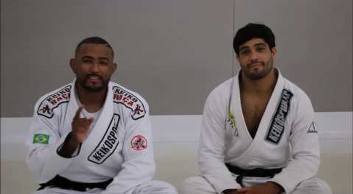 BJJ lesson: Learn two hook guard variations from Serginho Moraes and Dimitrius Souza