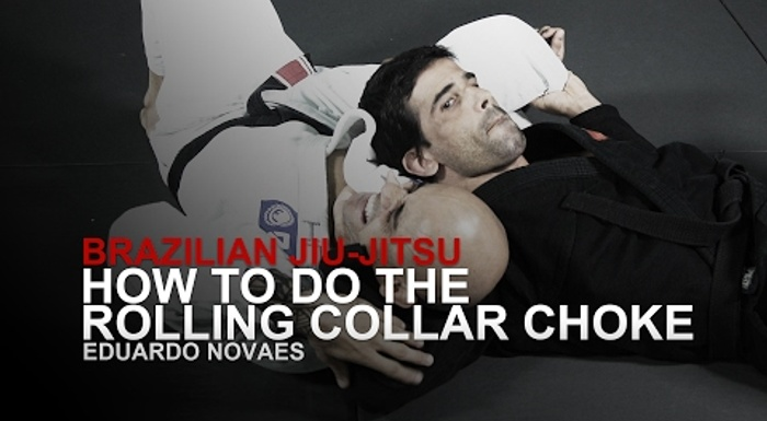 Learn how to do the rolling collar choke in BJJ