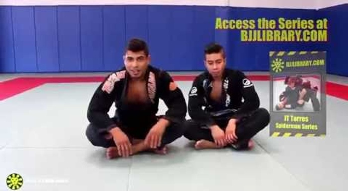 BJJ lesson: JT Torres teaches how to sweep with the single-leg starting from the De la Riva guard