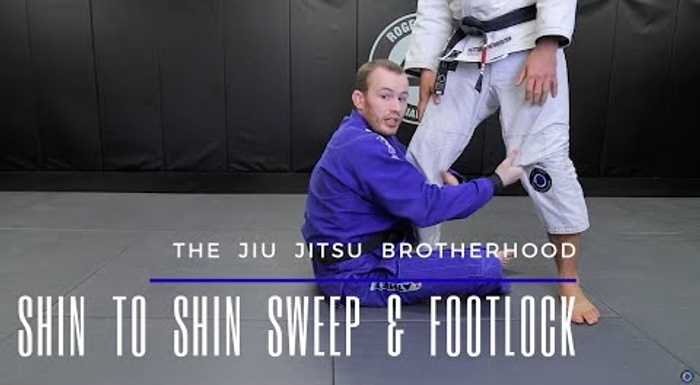 BJJ: Learn a foot lock starting from the shin-to-shin guard