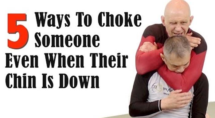 5 maneiras de estrangular quando o adversário usar o queixo para se defender