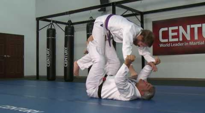 BJJ lesson: Ricardo Liborio -- overhead flip and mount from de la Riva guard