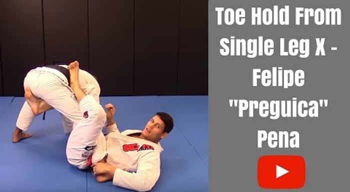 BJJ lesson: Felipe Preguiça teaches a toe hold starting from X-guard