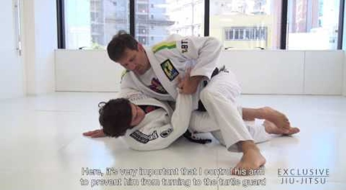 Brazilian Jiu-Jitsu lesson: Murilo Bustamante teaches how to sweep and pass straight to the mount