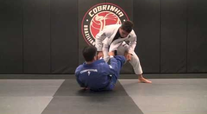 BJJ: Charles Cobrinha -- a combo for sweeping with the lapel and taking the back
