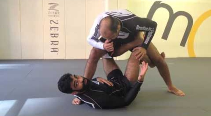 BJJ lesson: Mansher Khera -- a tip for sweeping a bigger, stronger adversary