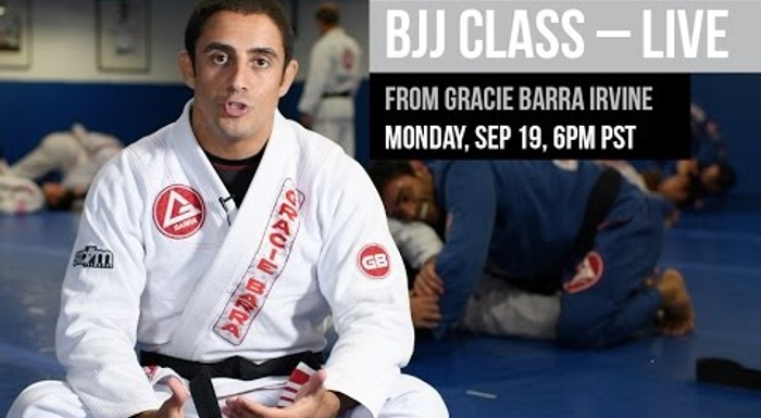 BJJ Live class from the Gracie Barra Headquarters