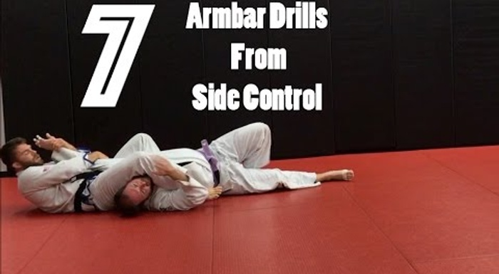 BJJ: 7 drills to finish on the arm from side control or knee on belly