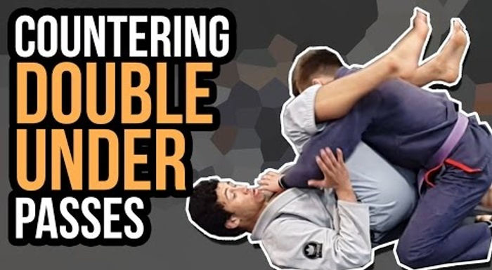 Learn 3 simple ways to counter the double-under pass in BJJ