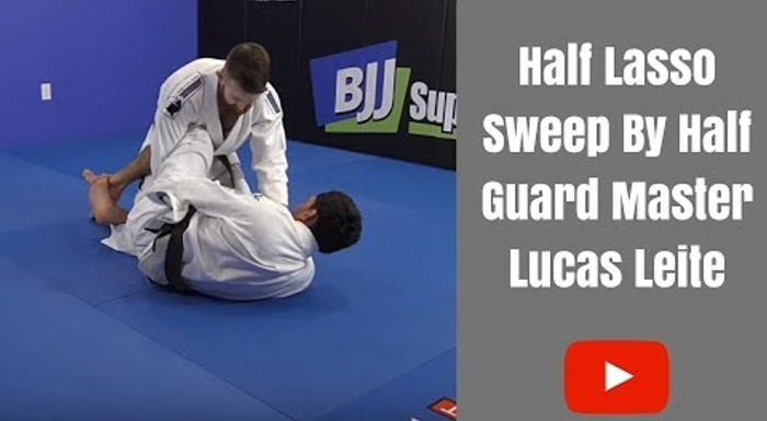 BJJ: Learn a sweep from the lasso half-guard with Lucas Leite