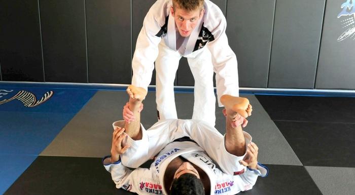 Brazilian Jiu-Jitsu lesson: Keenan Cornelius teaches how to apply an ezekiel choke from leg drag