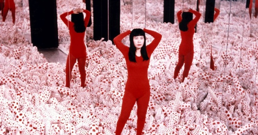 "Cover Image - Yayoi Kusama, ""Infinity Mirror Room – Phalli's Field"", 1965  © YAYOI KUSAMA, Courtesy: Ota Fine Arts, Victoria Miro & David Zwirner"