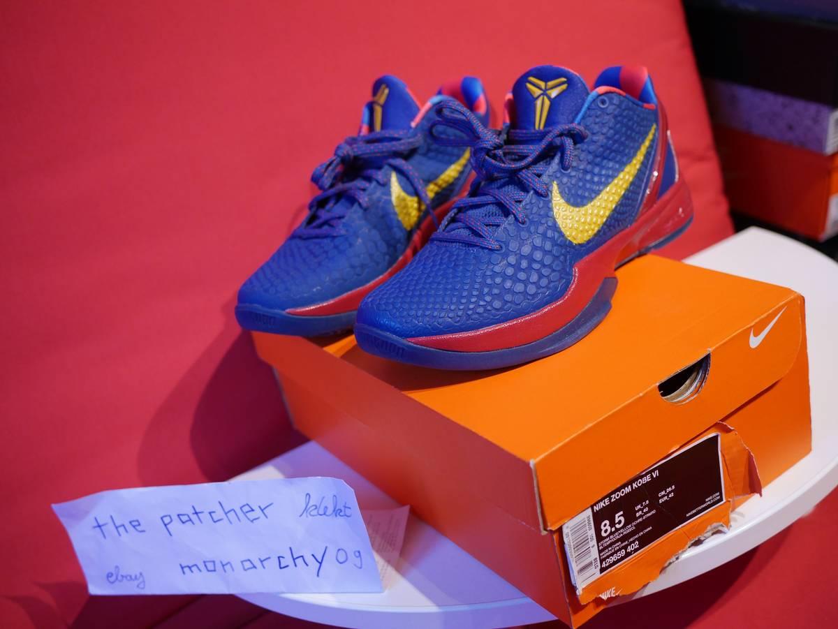 newest 13a43 5d735 ... Nike Zoom Kobe VI 6 Barcelona Storm Blue DS unworn 2011 Promo - photo  1 ...