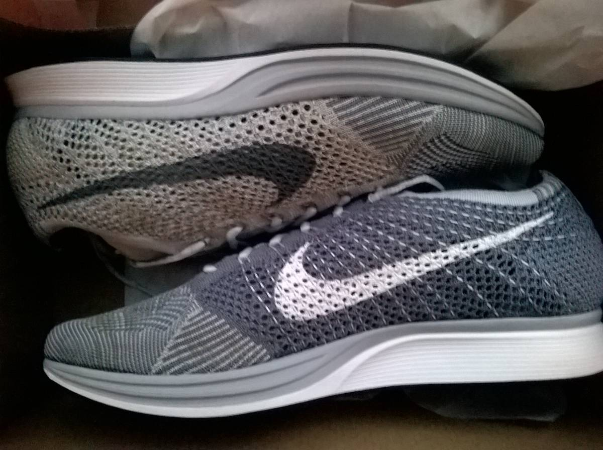 "Nike Flyknit Racer Pure Platinum ""Plats"" - photo 1/4"