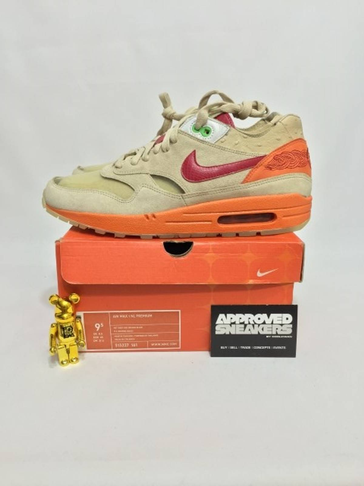 f8a4dcca ... Nike Air Max 1 NL Premium Clot Kiss Of Death 1 313277 161 US9.5 ...