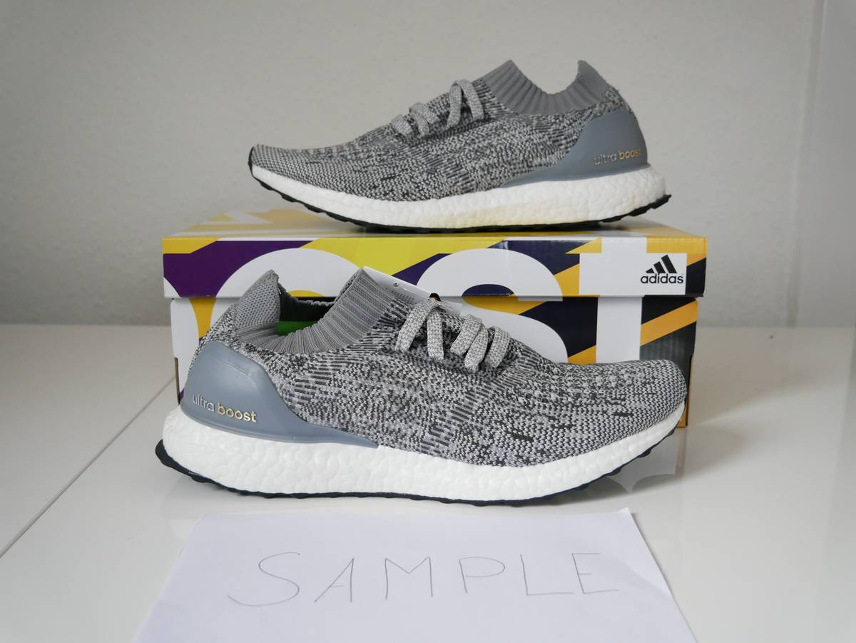 UA Ultra Boost Uncaged Grey White Hot Sale at kicksdaily.net! Don't