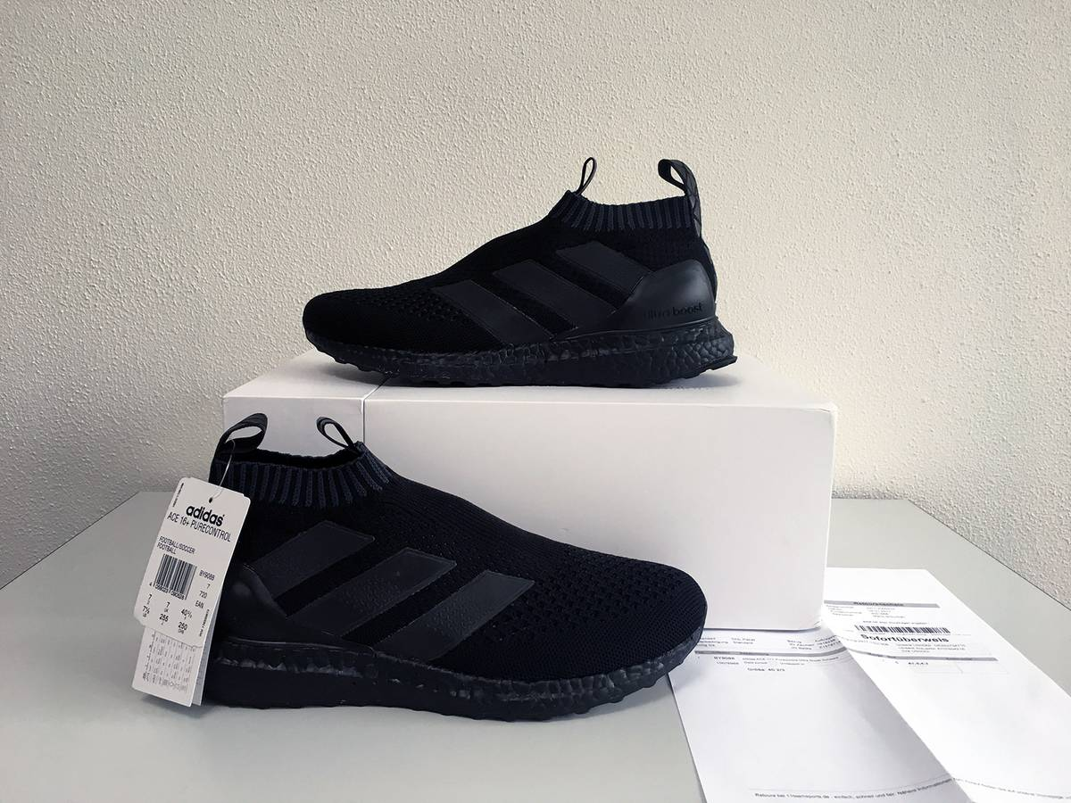 Adidas Ultra Boost 3.0 LTD Leather Cage 'Core Black Size 11.5