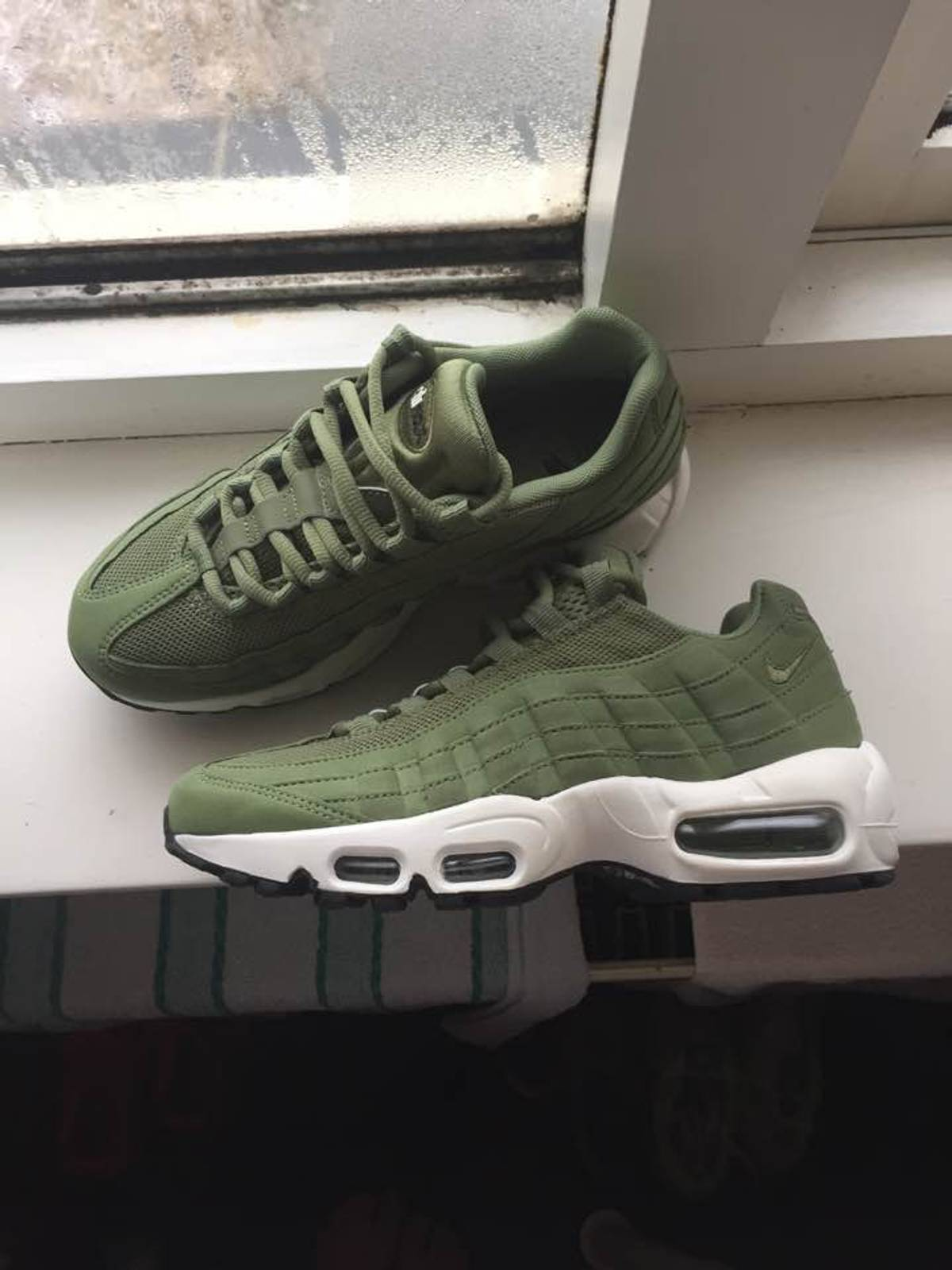 new arrival 77f94 fa996 ... promo code for nike air max 95 mens black grey nike air max 95 palm  green
